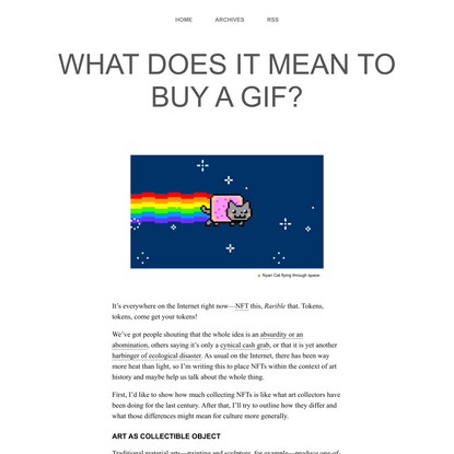 What Does It Mean To Buy a Gif?