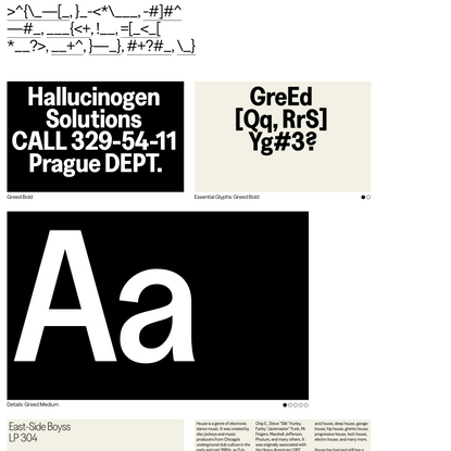 Greed - Displaay Type Foundry