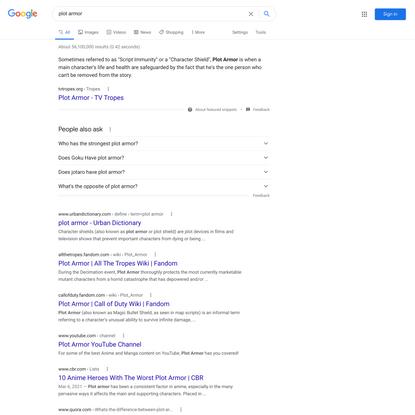 plot armor - Google Search