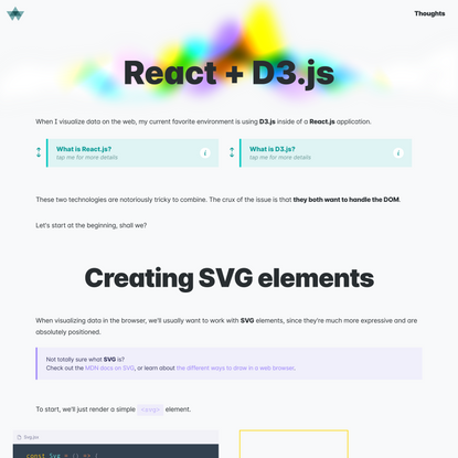 Using React with D3.js