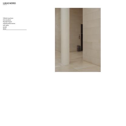 Forside - Lukas Morio