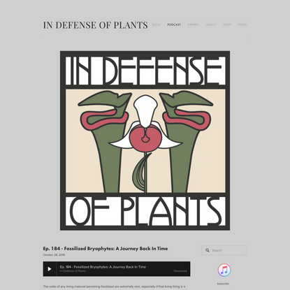 moss — Podcast — In Defense of Plants