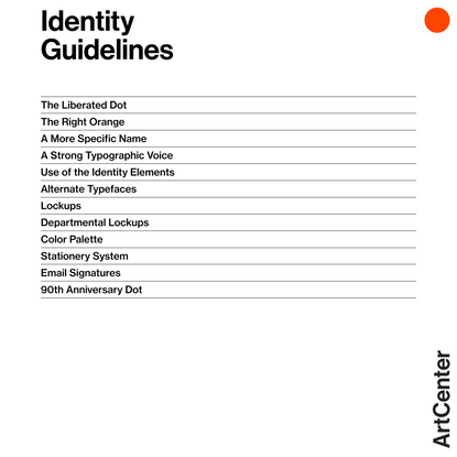 Identity Guidelines   ArtCenter Identity   ArtCenter College of Design