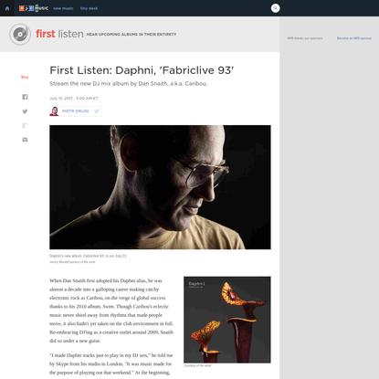 First Listen: Daphni, 'Fabriclive 93'