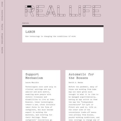 Labor — Real Life
