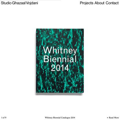 Studio Ghazaal Vojdani   Whitney Biennial Catalogue 2014