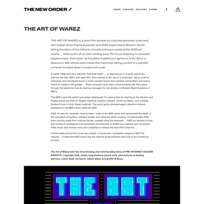 The Art of Warez — THE NEW ORDER /