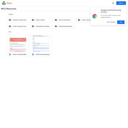 WiCS Resources - Google Drive