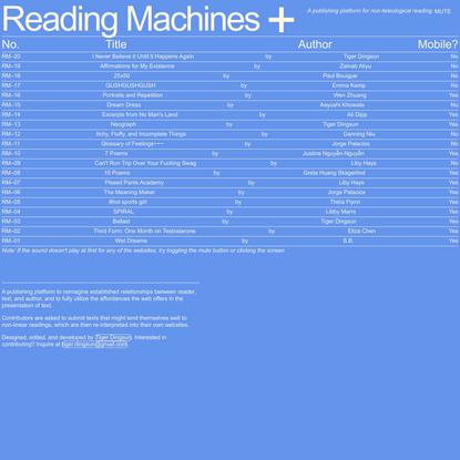 Reading Machines