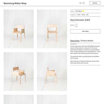 Chair-Instruction – Sammlung Walter Shop