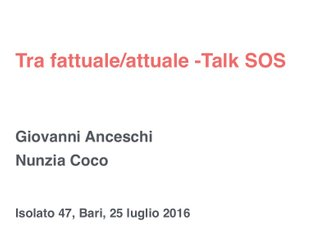 TALK: Nunzia Coco + Giovanni Anceschi