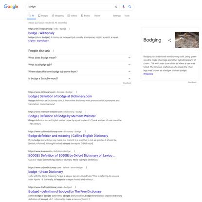 bodge - Google Search