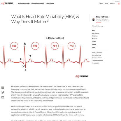 What is Heart Rate Variability (HRV) & why does it matter? | Firstbeat Blog