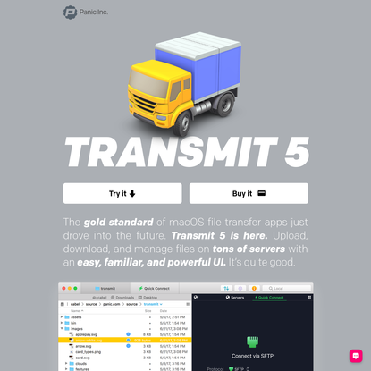 Transmit 5 for macOS. Now available.