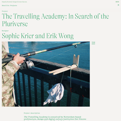 The Travelling Academy: In Search of the Pluriverse