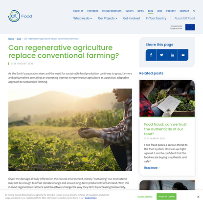 Can regenerative agriculture replace conventional farming?