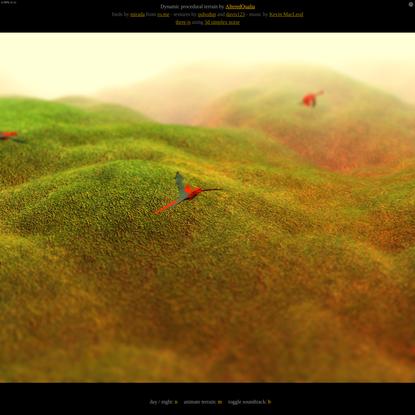WebGL procedural terrain [three.js]