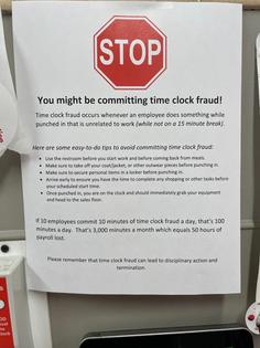 Time Clock Fraud