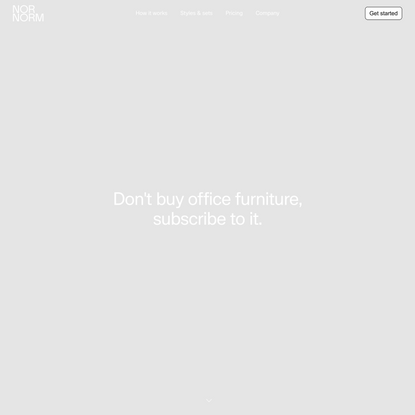 Why rent office furniture when you can subscribe to it? - NORNORM