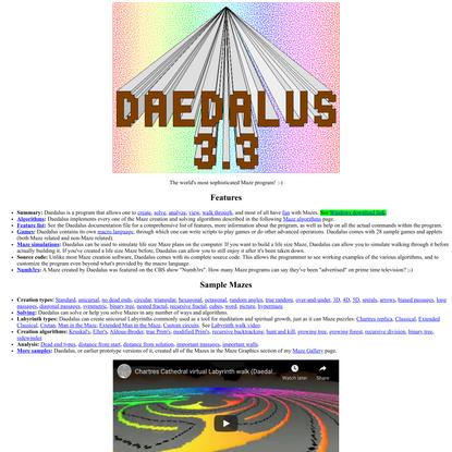 Think Labyrinth: Daedalus