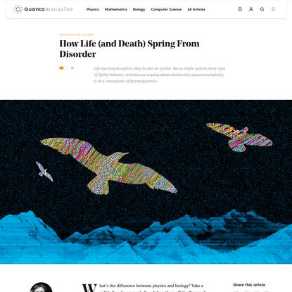 The Computational Foundation of Life   Quanta Magazine
