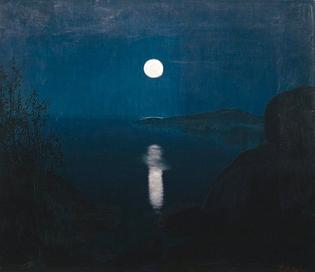 Harald Sohlberg, Moonlight, 1907