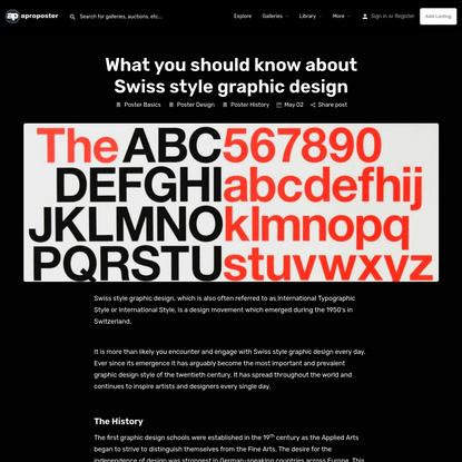 What you should know about Swiss style graphic design | aproposter