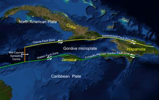 Gonâve microplate, Caribbean