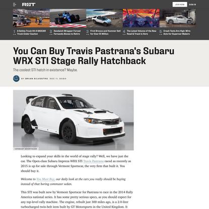 You Can Buy Travis Pastrana's Subaru WRX STI Stage Rally Hatchback