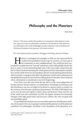 Philosophy and the Planetary.pdf
