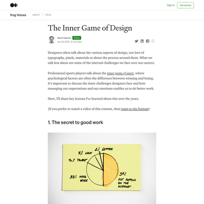 The inner game of design