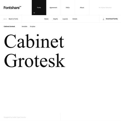 Cabinet Grotesk | Fontshare: Quality fonts. Free.