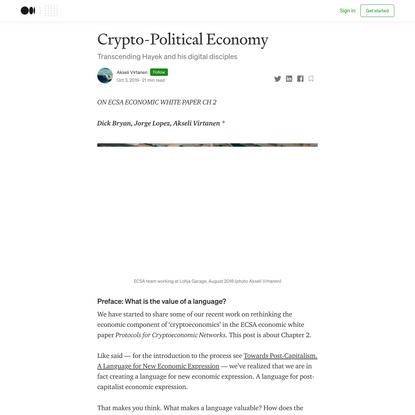 Crypto-Political Economy
