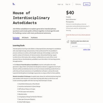 House of Interdisciplinary Autodidacts