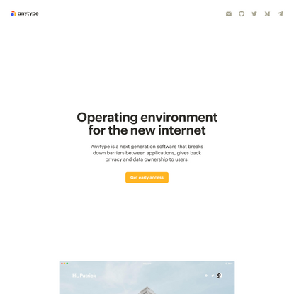 Operating environment for the new internet