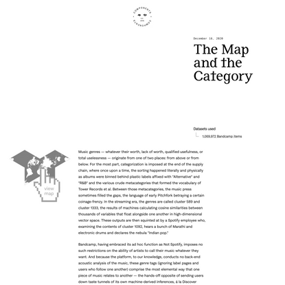 The Map and the Category