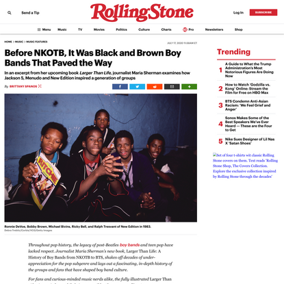 Before NKOTB, It Was Black and Brown Boy Bands That Paved the Way