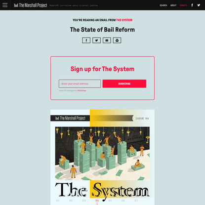 The System: The State of Bail Reform