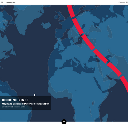 Bending Lines: Maps and Data from Distortion to Deception