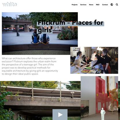 Flickrum — Room for girls | White Arkitekter