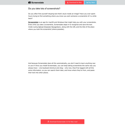 Screenotate: Recognize text in your screenshots