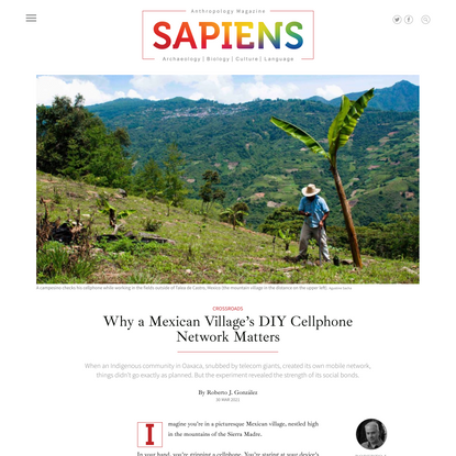 Why a Mexican Village's DIY Cellphone Network Matters