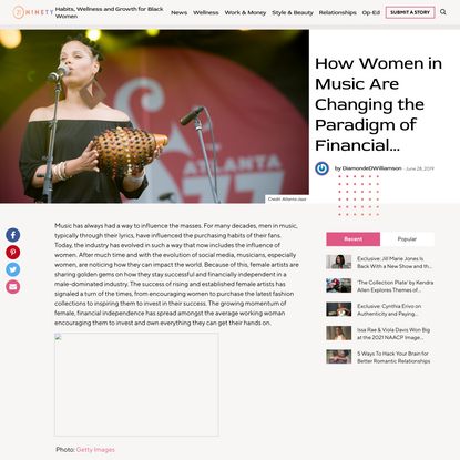 How Women in Music Are Changing the Paradigm of Financial Independence - 21Ninety