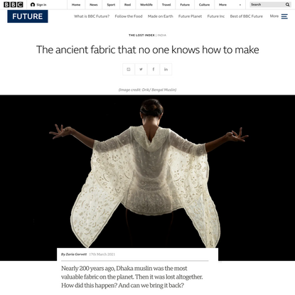 The ancient fabric that no one knows how to make