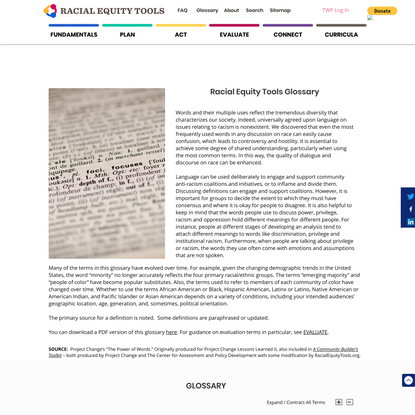 Glossary | Racial Equity Tools