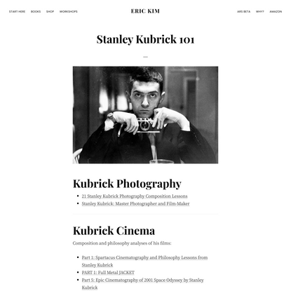 Stanley Kubrick 101 - ERIC KIM