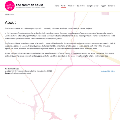About – the common house