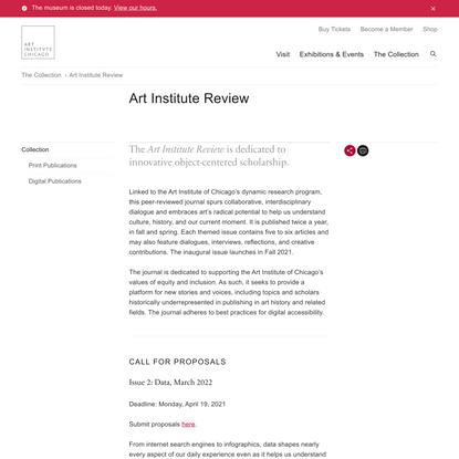 Art Institute Review | The Art Institute of Chicago