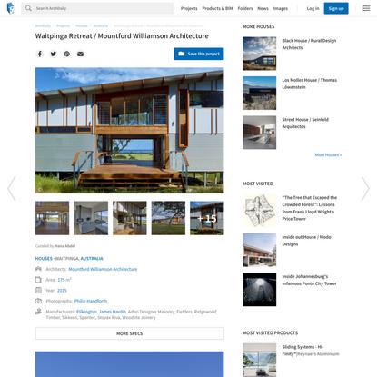 Waitpinga Retreat / Mountford Williamson Architecture