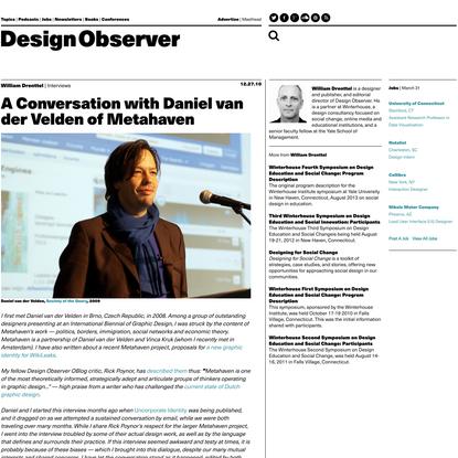 A Conversation with Daniel van der Velden of Metahaven
